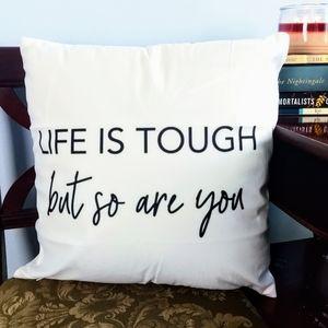 Black & White Throw Pillow w/ Removable Insert